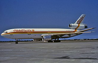 Aloha Airlines - Aloha Pacific DC-10-30 at Taipei Airport in July 1984