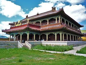 Culture of Mongolia - A Buddhist monastery in Mongolia