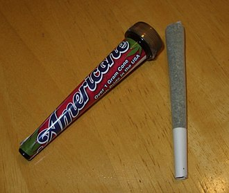 Joint (cannabis) - Commercially prepared American medical cannabis joint