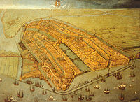 Painting of Amsterdam in 1538