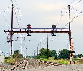 Philadelphia to Harrisburg Main Line - Image: Amtk Keystone Corr signals 01