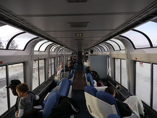 Amtrak Superliner II Sightseer Lounge Car - Coast Starlight