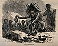An African medicine man or shaman using symbols and small an Wellcome V0015954.jpg