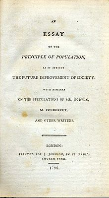 essay of population An essay on the principle of population as it affects the future improvement of society, with remarks on the speculations of mr godwin, m condorcet, and other writers.