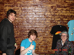 Anamanaguchi - (left to right) James DeVito, Peter Berkman and Ary Warnaar in Brooklyn, New York, in 2009