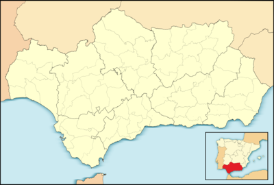 Location map Spain Andalusia