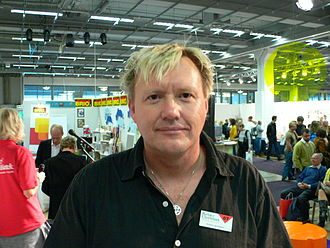 Anders Jacobsson and Sören Olsson - Anders Jacobsson at the Gothenburg Book Fair in 2007.