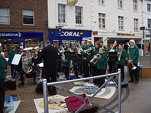 English: Andover - Brass Band The Test Valley ...