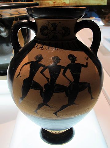 runners on a Greek vase (c. 540 AD) - Greek Dolichos