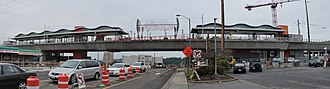 Angle Lake station - Image: Angle Lake Station under construction, December 2015 (23656840530)