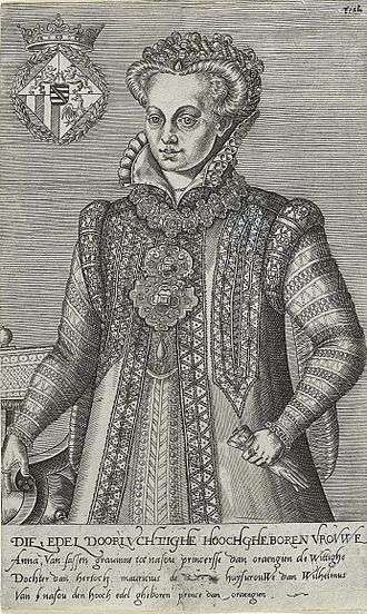 Anna of Saxony - Anna of Saxony—Engraving by Abraham de Bruyn (1566)