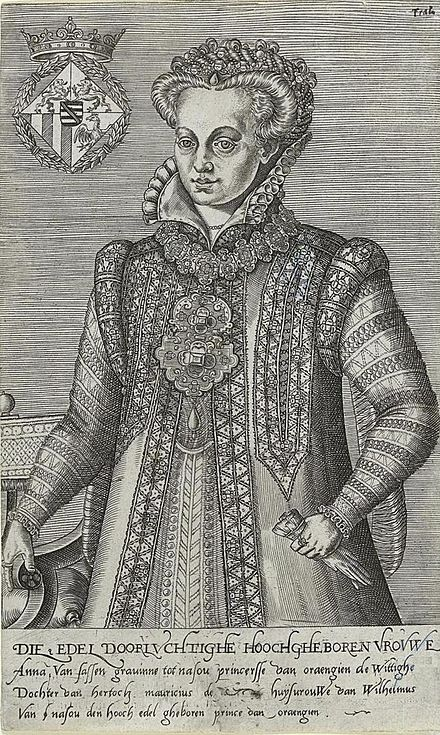 Anna of Saxony, second wife of William the Silent Annasaxony1544.jpg