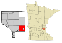 Anoka Cnty Minnesota Incorporated and Unincorporated areas LinoLakes Highlighted.png