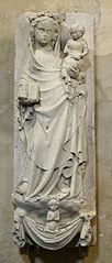 Âme d'un élu conduit auprès de la Vierge à l'Enfant par deux anges