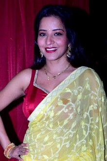 Antara Biswas at Bharti Singh's pre-wedding bangle ceremony (04) (cropped).jpg