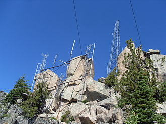Laramie Peak - Antennas on top of Laramie Peak