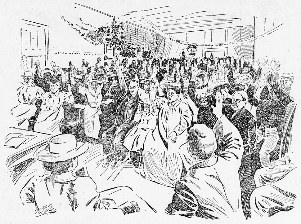 Anti-Annexation meeting at Hilo, 1897