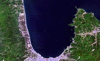 Aomori Bay - Landsat image of Aomori Bay
