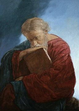 Apostle John the Theologian on the island of Patmos. Mironov