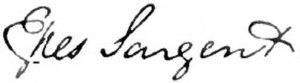 Epes Sargent - Image: Appletons' Sargent Paul Dudley Epes signature