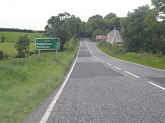 A3 road (Northern Ireland) - Image: Armagh to Monaghan Road (A3) geograph.org.uk 537243
