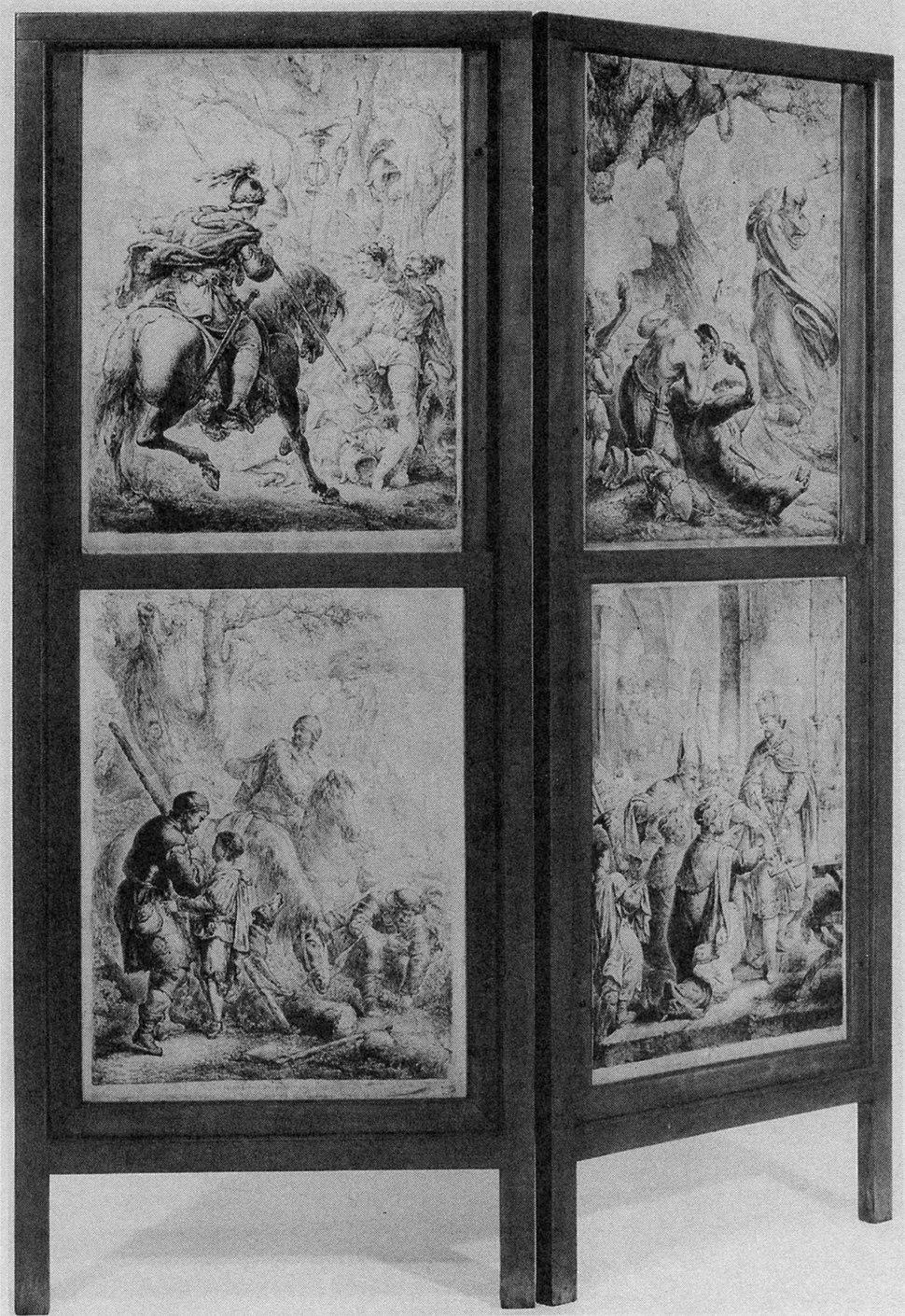 Arminius mit Kopf des Varus