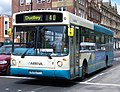 Arriva bus 4519 Volvo B10BLE Alexander ALX300 W295 PPT in Newcastle 9 May 2009 pic 1.jpg