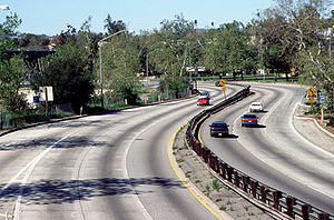 Transportation in California - Along the historic Arroyo Seco Parkway between Los Angeles and Pasadena
