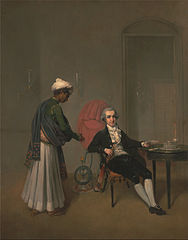 Portrait of a Gentleman and an Indian Servant