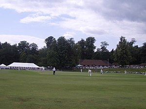 Arundel Castle Cricket Ground - The West Indians are playing, with Brian Lara on strike