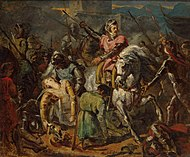 Ary Scheffer - Death of Gaston de Foix in the Battle of Ravenna on 11 April 1512 - WGA20977.jpg