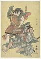 Asahina no Saburo in gevecht met Soga no Goro-Rijksmuseum RP-P-2000-354.jpeg