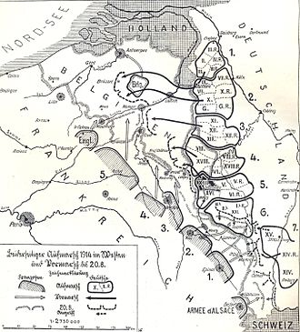 German Army order of battle (1914) - Image: Aufmarsch im Westen 1914