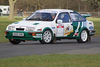 Ford World Rally Team - A replica of Auriol's winning car being driven at Race Retro 2014