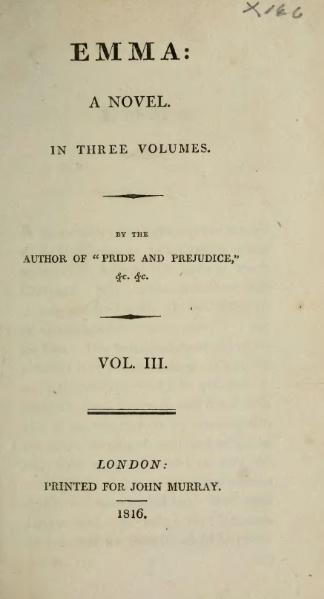 File:Austen - Emma, vol. III, 1816.djvu