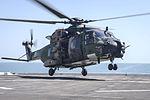 Australian MRH-90 lands on USS Green Bay (LPD-20) in July 2015.JPG