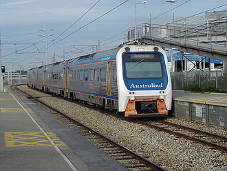 Transwa Australind - The Australind at Claisebrook in April 2002