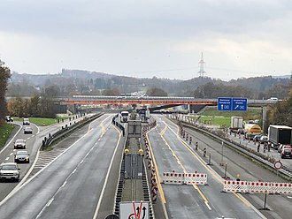 Bundesautobahn 1 - 2017: Renovation work on the cross Lotte / Osnabrück in preparation for the six-lane expansion