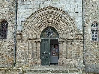Auzances - The doors of the church of Saint-Jacques, in Auzances