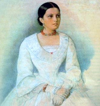 Ivan Panaev - Portrait of Avdotya Panaeva by Kirill Gorbunov.