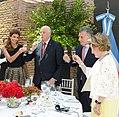 Awada, Harald V, Macri and Queen Sonja sharing a toast 01.jpg
