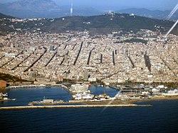 Vista aérea de Barcelona.
