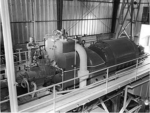 BORAX experiments - BORAX III steam turbine and generator.