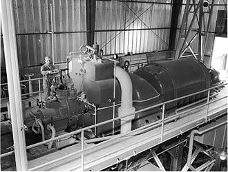 BORAX experiments - BORAX III steam turbine and generator.