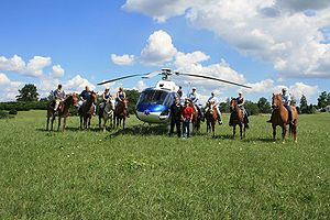 Mounted search and rescue - MSAR training with a helicopter air ambulance