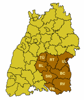 Localisation de District de Tübingen