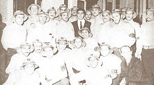 Bachir Gemayel - Bachir with Kataeb Regulatory Forces militiamen