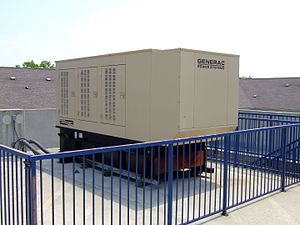 Emergency power system - A backup generator for a large apartment building