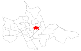 Carte du quartier à district de Sede.
