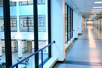 Baldwin High School (Pennsylvania) - Hallway overlooking the south atrium.